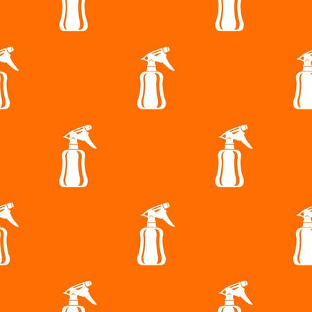Perfume pattern vector orange