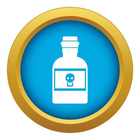 Poison bottle icon blue vector isolated Ilustração