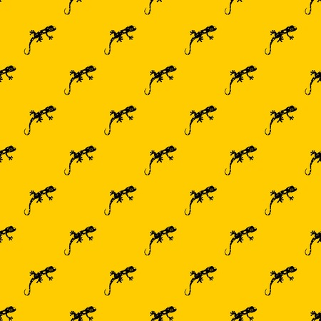 Chameleon pattern seamless vector repeat geometric yellow for any design 일러스트