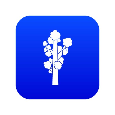 Tree icon digital blue for any design isolated on white vector illustration 版權商用圖片 - 130238329