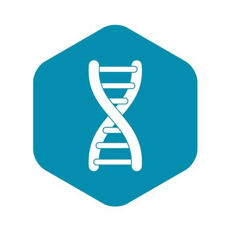 DNA strand icon. Simple illustration of DNA strand vector icon for web Imagens - 130238330