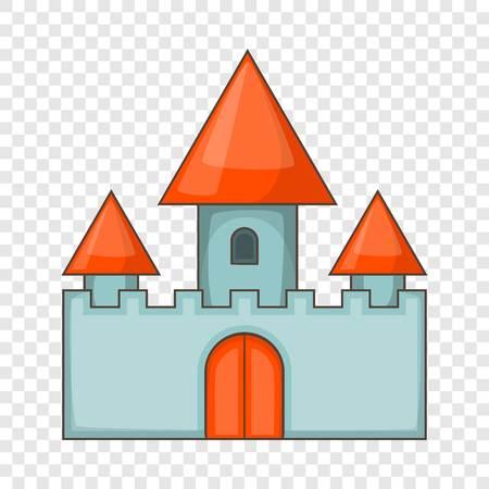Chillon castle in Montreux icon, cartoon style