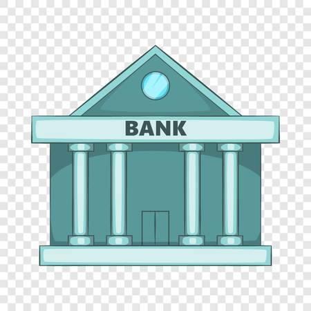 Swiss Bank icon, cartoon style