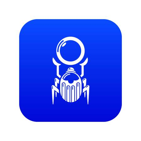 Scarab icon blue vector