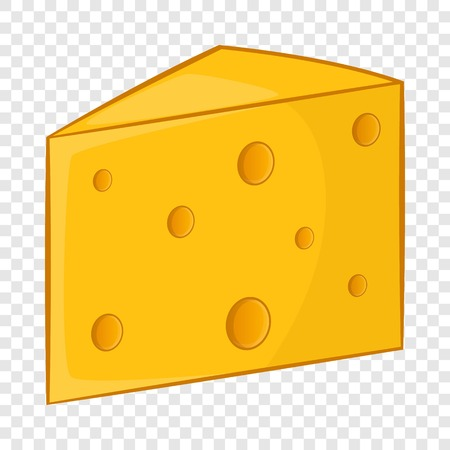 Swiss cheese icon. Cartoon illustration of swiss cheese vector icon for web design