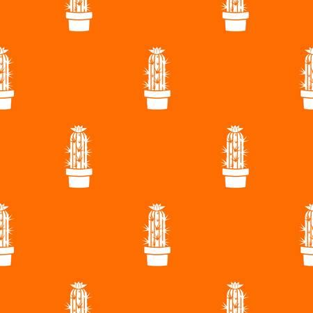 Cactus chereus pattern vector orange