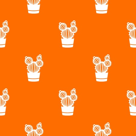 Round cactus pattern vector orange for any web design best