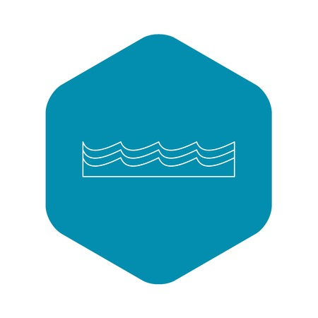 Water icon. Outline illustration of water vector icon for web