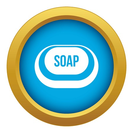 Soap icon blue vector isolated on white background for any design