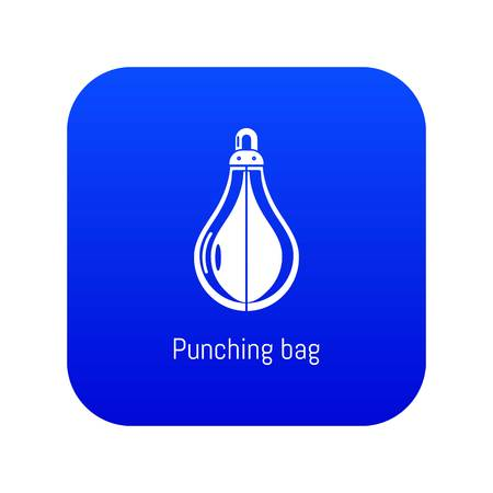 Punching bag icon blue vector isolated on white background Иллюстрация