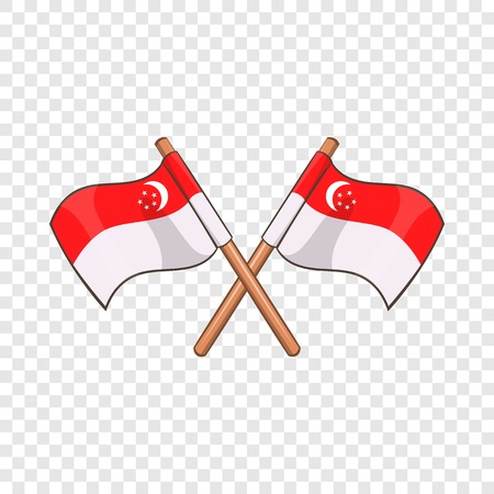 Singapore flag icon. Cartoon illustration of singapore flag vector icon for web