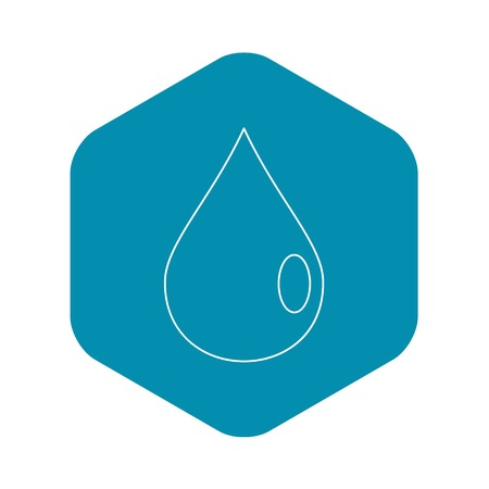 Drop icon, outline style