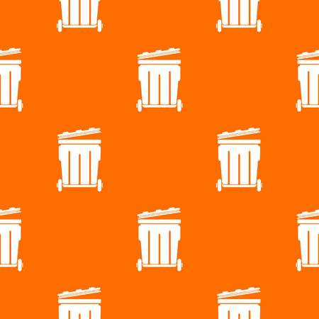 Street container pattern vector orange