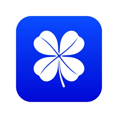 Clover leaf icon digital blue for any design isolated on white vector illustration Foto de archivo - 130238471