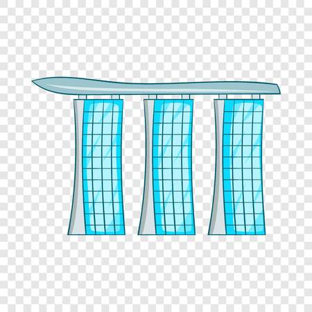 Hotel icon, cartoon style Illustration