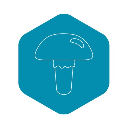 Poisonous mushroom icon, outline style