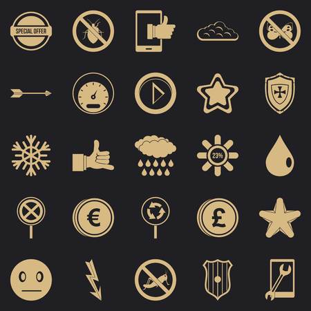 Type icons set, simple style