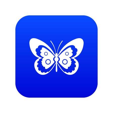 Icono de mariposa azul digital para cualquier diseño aislado en la ilustración de vector blanco Ilustración de vector