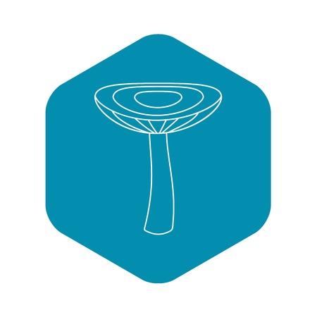 Mushroom russet icon, outline style Illustration