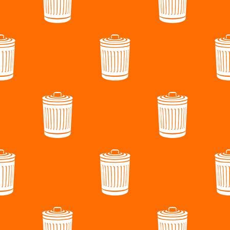 Closed bucket pattern vector orange Ilustração