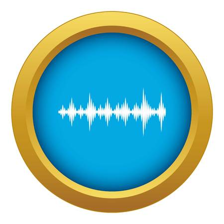 Music sound waves icon blue vector isolated on white background for any design Illusztráció