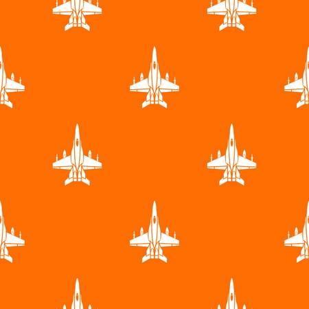 War plane pattern vector orange