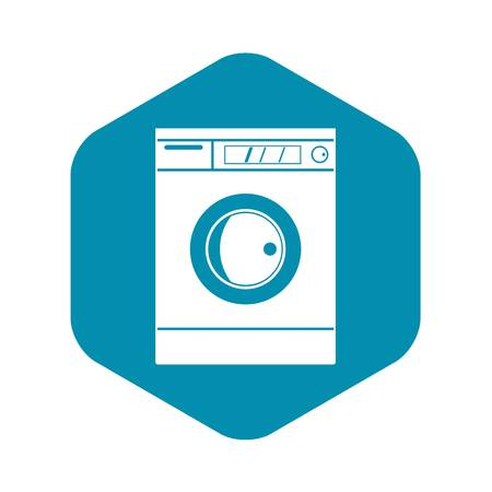Washing machine icon, simple style Illustration