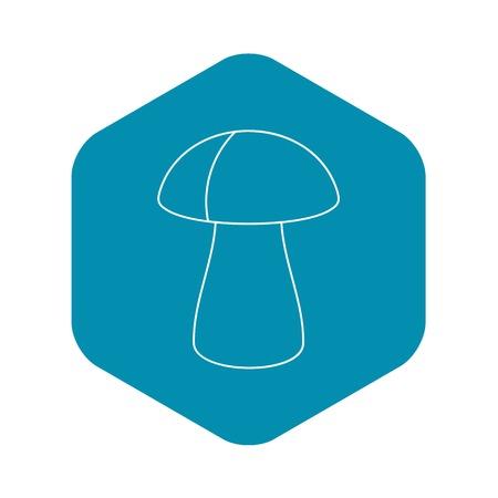 Fungus boletus icon, outline style Ilustração
