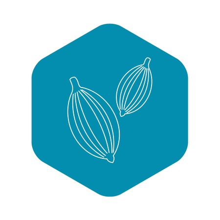 Cardamom icon. Outline illustration of cardamom vector icon for web