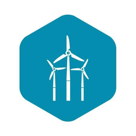 Windmill icon, simple style Reklamní fotografie - 122651531