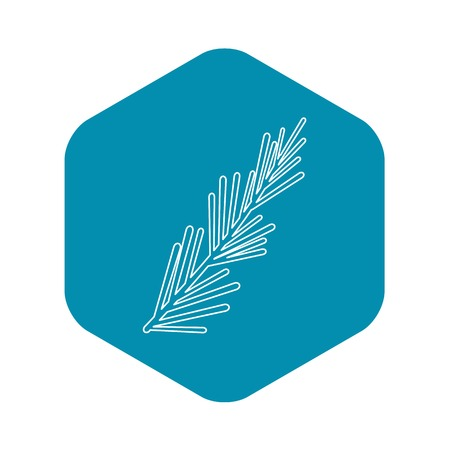 Thyme plant icon. Outline illustration of thyme plant vector icon for web