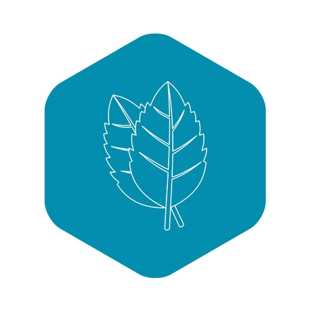 Basil leaves icon. Outline illustration of basil leaves vector icon for web