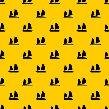 Vietnamese junk boat pattern vector
