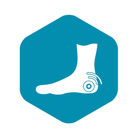 Foot heel icon, simple style