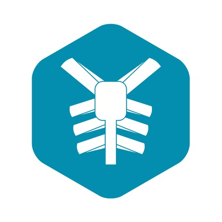 Human thorax icon, simple style