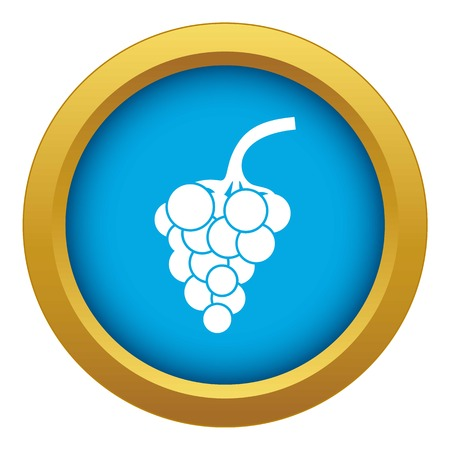 Grape branch icon blue vector isolated 일러스트