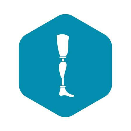 Prosthesis leg icon, simple style