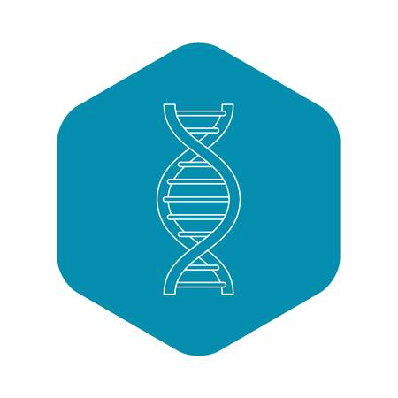DNA strand icon. Outline illustration of DNA strand vector icon for web Imagens - 130238734