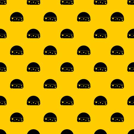 Dutch cheese pattern seamless vector repeat geometric yellow for any design
