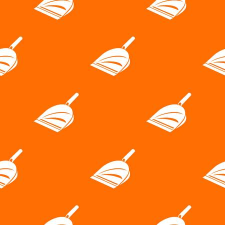 Scoop pattern vector orange