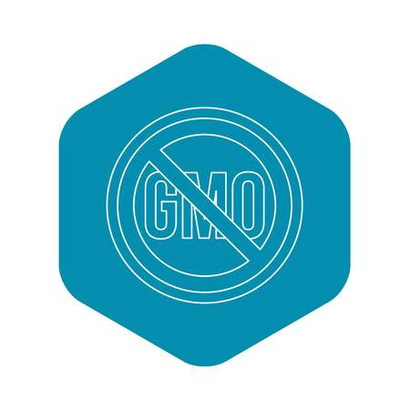 No GMO sign icon. Outline illustration of no GMO sign vector icon for web Vettoriali