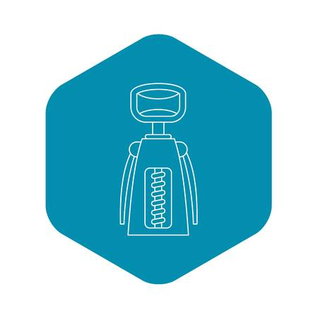 Corkscrew icon. Outline illustration of corkscrew vector icon for web