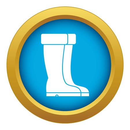 Winter shoes icon blue vector isolated Illustration