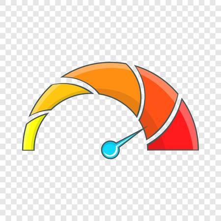 Vehicle speedometer icon. Cartoon illustration of speedometer vector icon for web design