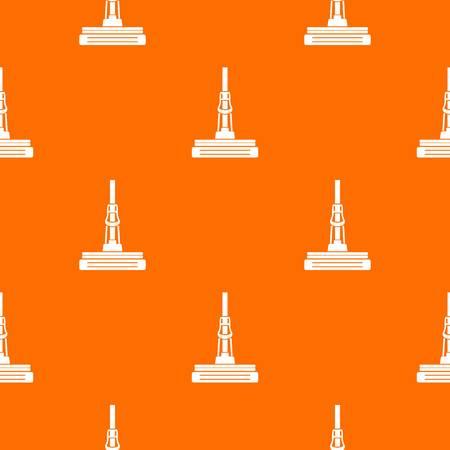 Mop pattern vector orange
