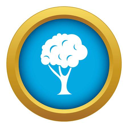 Tree icon blue vector isolated on white background for any design