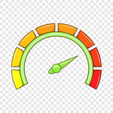 Sport car speedometer icon, cartoon style