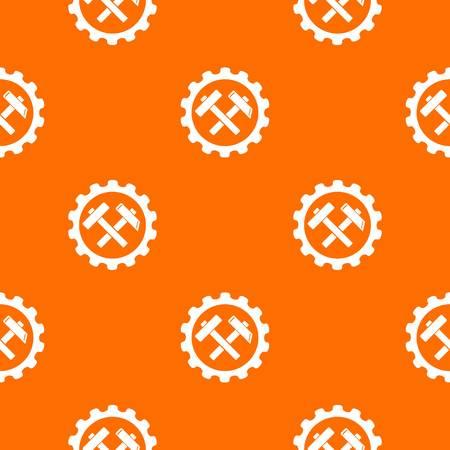 Gear pattern vector orange Ilustrace