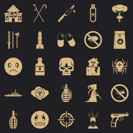 Tension icons set. Simple set of 25 tension vector icons for web for any design