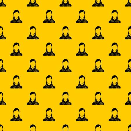 HR management pattern seamless vector repeat geometric yellow for any design